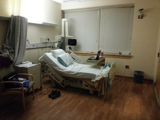 The room I stayed in during the research study.