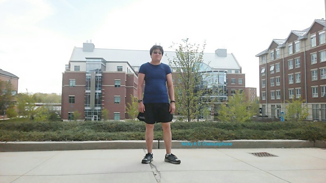 Me Standing tall at Eastern Connecticut State University